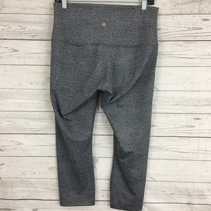 Lululemon high rise crop wunder under spotted pant